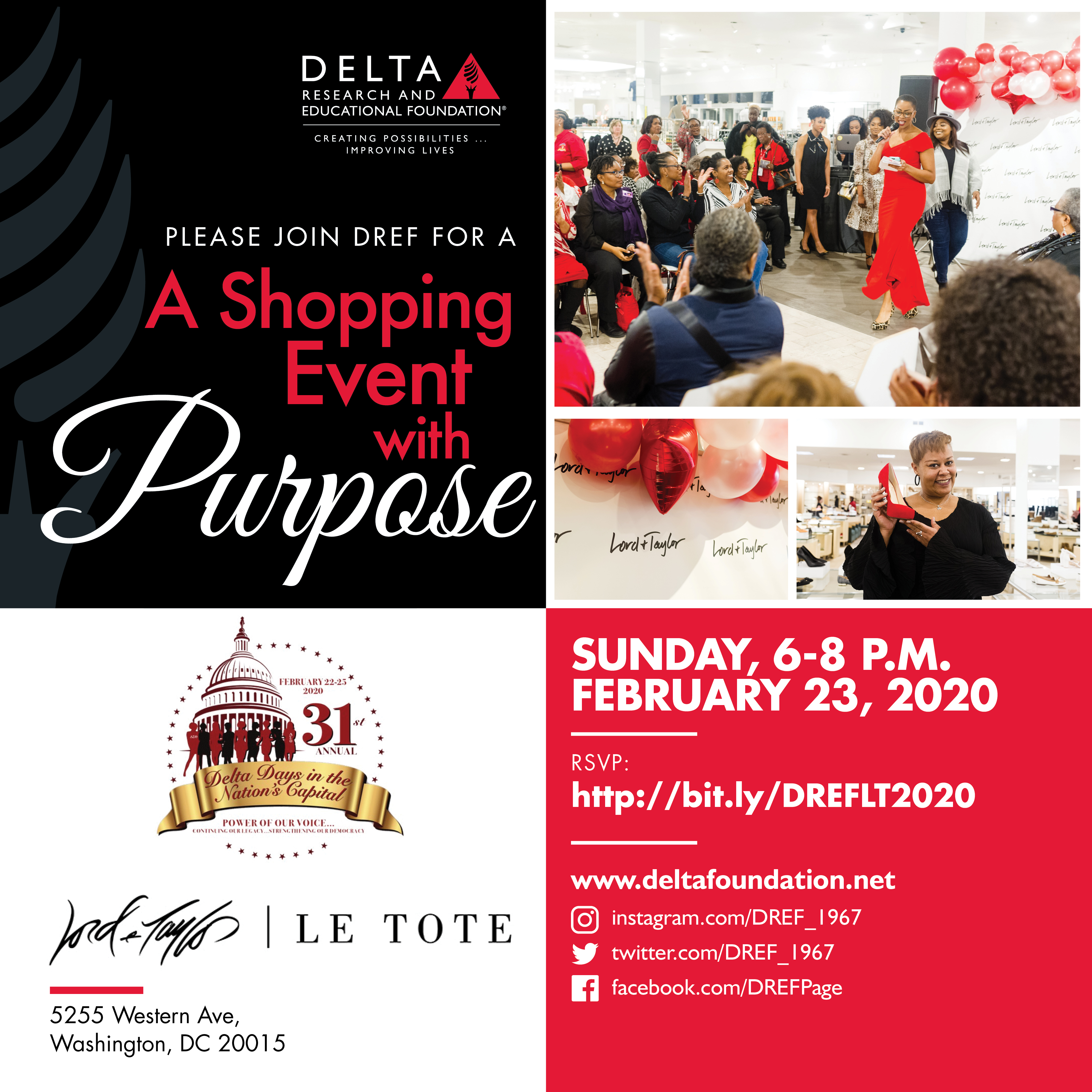 DREF invites you to Shop with a Purpose! Join us at Lord & Taylor, DC!