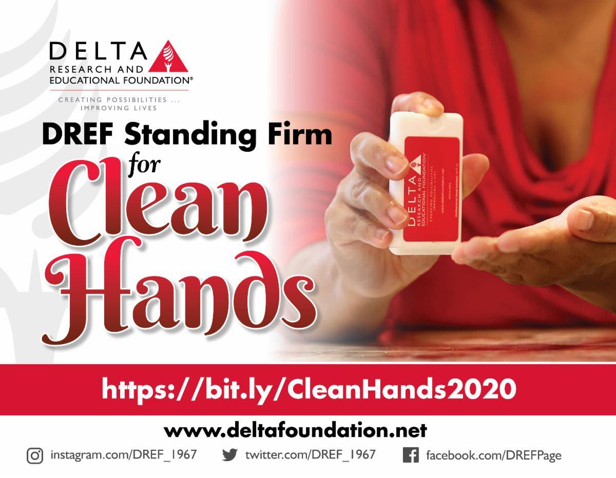 Help Stop Community Spread. Join the DREF Clean Hands Campaign TODAY!