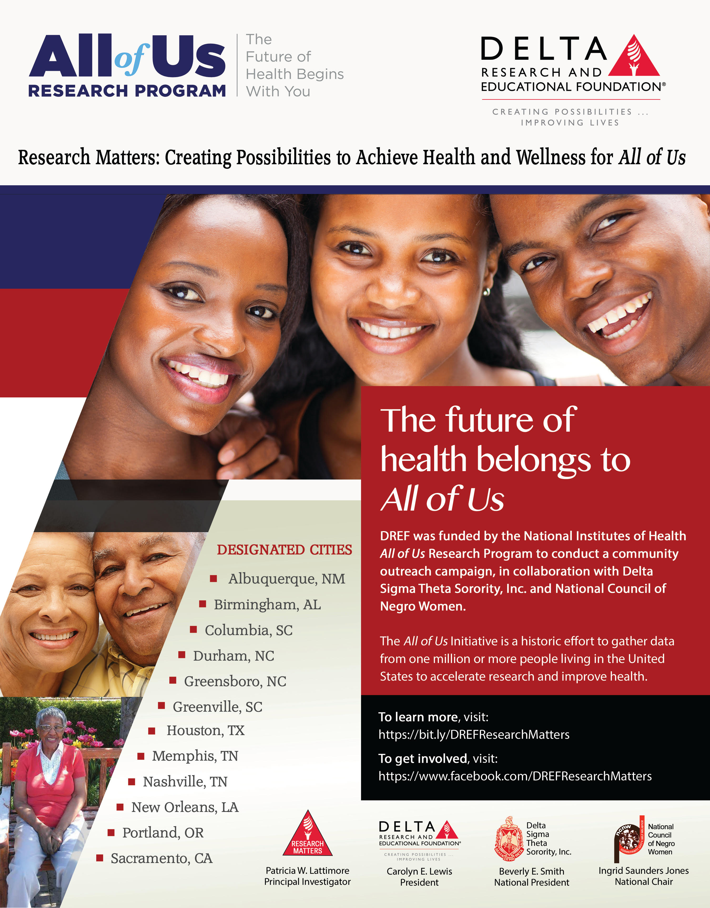 The Delta Research and Educational Foundation (DREF) joins NIH in launching the All of Us Research Program to advance precision medicine